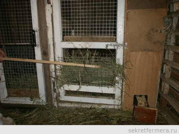 Кормушки для кроликов для сена своими руками