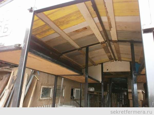 Крыша под пластиком