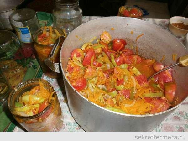 прогретые овощи